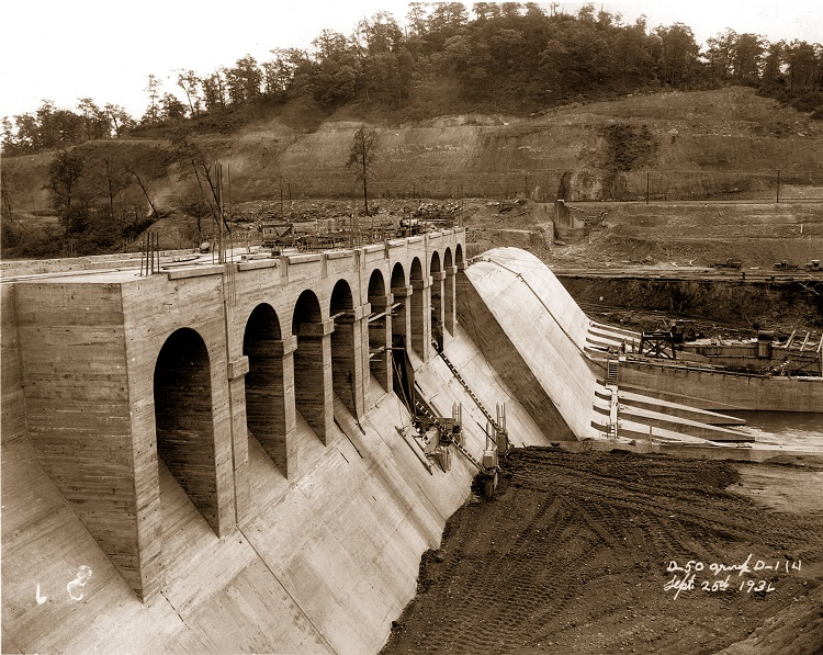 Dover Dam construction