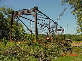 Third view of bridge as dismantling began.