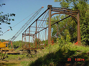 Second view of bridge as dismantling began.