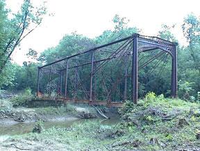 View of bridge as dismantling began.