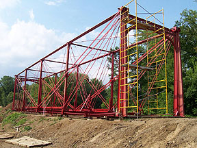 Bridge re-assembly continues