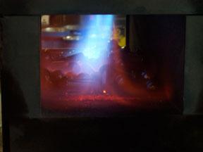 Rivet furnace heating rivets