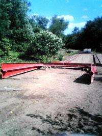 Bridge components arrive at the job site
