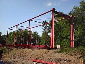 Bridge re-assembly underway