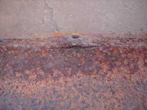 Pack rust popped rivet