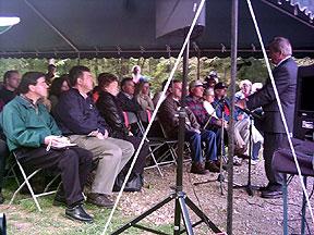Guests listen to Congressman Regula
