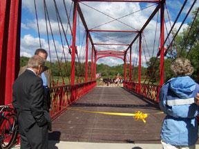 Congressman Ralph Regula surveys the bridge