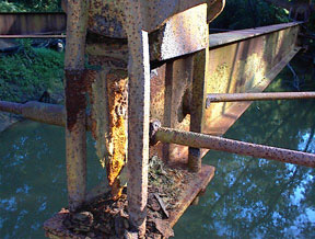 View of rusted I-beam