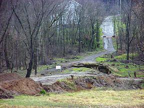 Close view of jobsite on Nov. 30, 2000