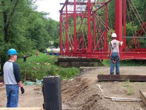 Bridge continues to move