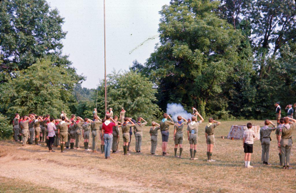 Camp Buckeye flag retreat 1966