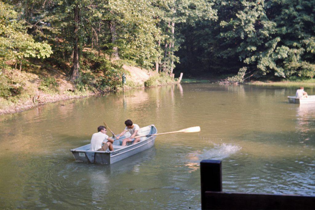 Rowing Merit Badge on Bucky's Pond 1970