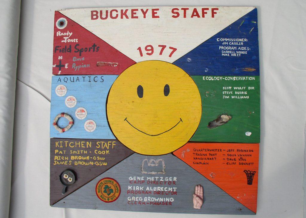 Buckeye Staff plaque 1977